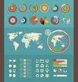 Infographic elements clip-art Flat design elements vector image