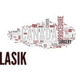 lasik canada text background word cloud concept vector image vector image