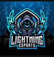 lightning esport mascot logo design vector image