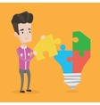 Man having business idea vector image vector image