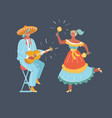 mexico dancers and latin music folk celebration vector image vector image