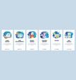 mobile app onboarding screens web development vector image vector image