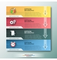 Modern infographic option banner vector image