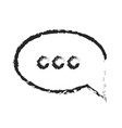 monochrome blurred silhouette of speech bubble vector image vector image