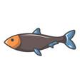 nordic fish icon cartoon style vector image vector image