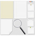 paper big set with magnifying vector image