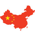 public republic of china map vector image