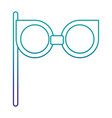 retro glasses isolated icon vector image vector image