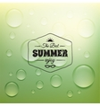 Retro summer label in doodle sketch style isolated vector image vector image