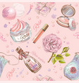 Rose cosmetic pattern vector image