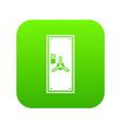 safe door icon digital green vector image