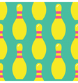Seamless Bowling Pattern Bowling Pattern vector image vector image