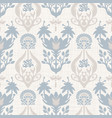 seamless paisley pattern in french blue linen vector image vector image