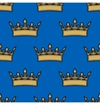 Seamless pattern of gold crowns vector image vector image