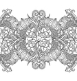 Seamless pattern with floral elements vector image vector image