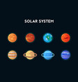 set of flat icons solar system vector image