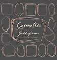 set of geometric pink gold frame decorative vector image