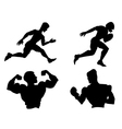 set of silhouettes of different sports vector image