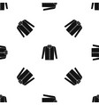 shirt pattern seamless black vector image vector image