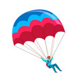 skydiver man jump with parachute active vector image vector image