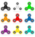 spinner icon set in flat style hand toy for vector image