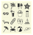 Summer beach icons vector image