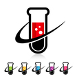 Swoosh Test Tube Logo Icons vector image vector image