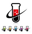 Swoosh Test Tube Logo Icons