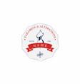 tailor sewing company vintage retro logo design vector image vector image