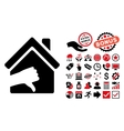 Terrible House Flat Icon with Bonus vector image vector image