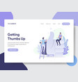 thumbs up concept vector image