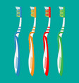 toothbrush in different colors tooth brush icon vector image vector image