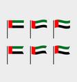 united arab emirates flag symbols set national vector image