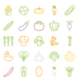 Vegetables icons flat design vector image