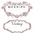 Wedding title Floral Frame for Wedding Invitation vector image vector image