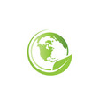 world environment logo icon template vector image vector image
