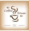 Coffee house logo vector image
