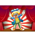 A stage with a funny clown vector image vector image
