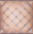 abstract rose gold striped pattern background vector image vector image