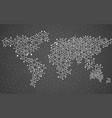 abstract world map of hexagonal vector image vector image