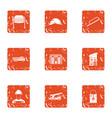 advocacy icons set grunge style vector image
