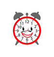 alarm clock icon in color for children vector image