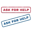 Ask For Help Rubber Stamps vector image vector image