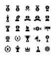 awards and trophy icon set in flat style vector image vector image