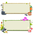 Bamboo SPA Boards vector image