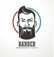 Barber shop logo design template