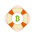 bitcoin in safety ring vector image