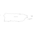 Black White Puerto Rico Outline Map