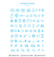 business and financial icons collection vector image
