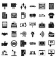 businessman icons set simple style vector image vector image